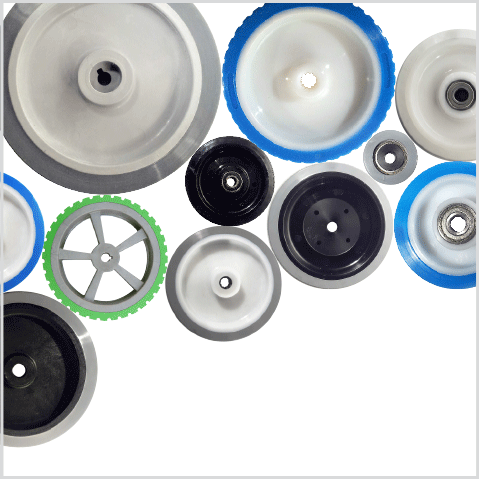 FIR ruote in poliuretano elastico